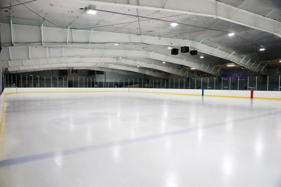 Empty Hockey Rink