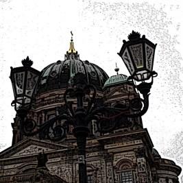 0805 Berliner Dom Kandelaber 52 farbig grav