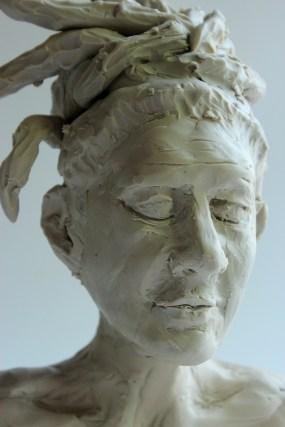 Student Artwork, Clay Portrait Sculpture, RISD Project Open Door