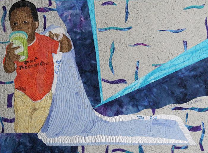 Art quilt | Police Brutality| Black Lives Matter | Races Relations | Black Mother