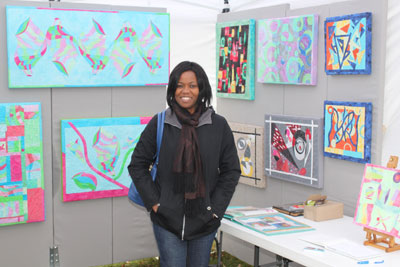 Cold but Smiling on Day1 of my first Outdoor Craft Show