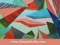 Textile Art, Rocks and Gems by Clara Nartey asks the question - what is success