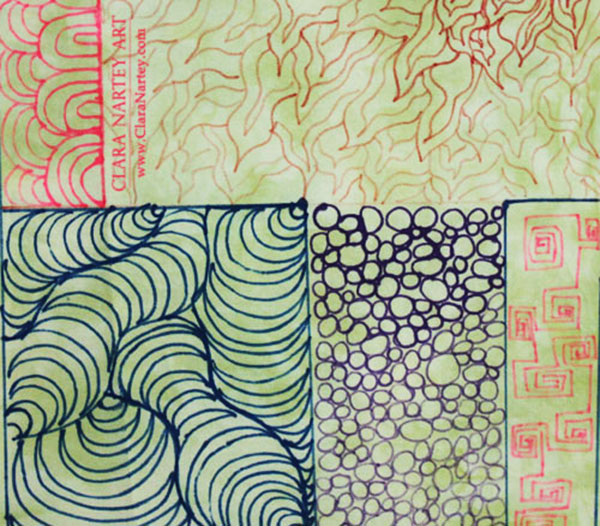 Doodling | Fabric Markers | Free Motion Quilting Designs