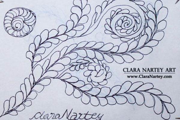 Doodling with Black Ink | Free Motion Quilting Designs | Zen Doodles