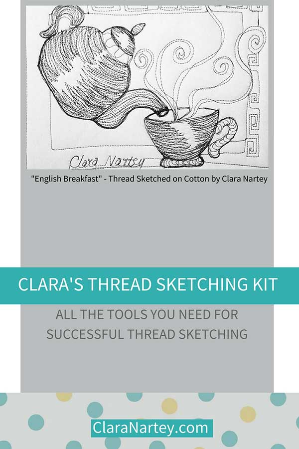 The thread sketching kit for successful thread sketching