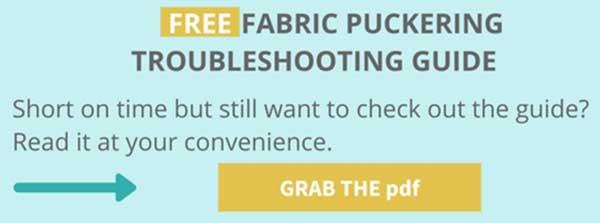 fabric puckering