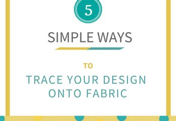 trace onto fabric