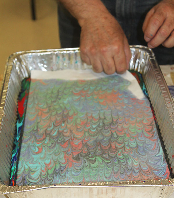Marbling With Acrylic Paint On Fabric Clara Nartey