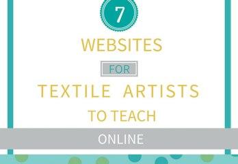 teach textile art online