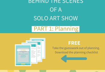 planning solo art show