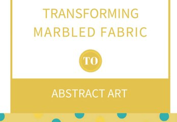 marbled fabric to abstract art
