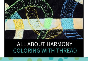 All about harmony - fiber art