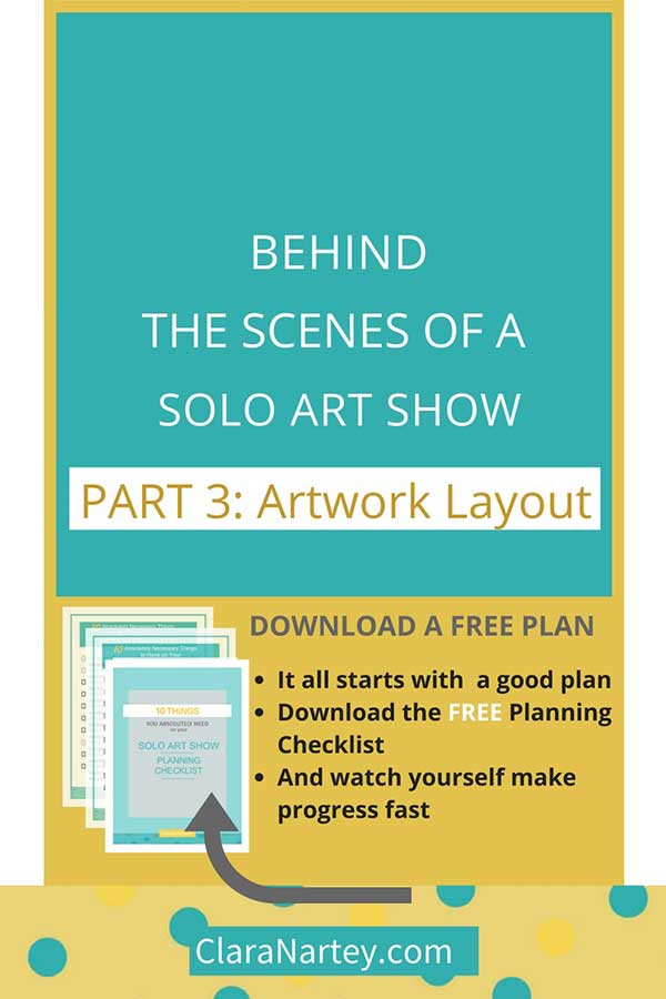 How to craft the artwork layout for your solo show