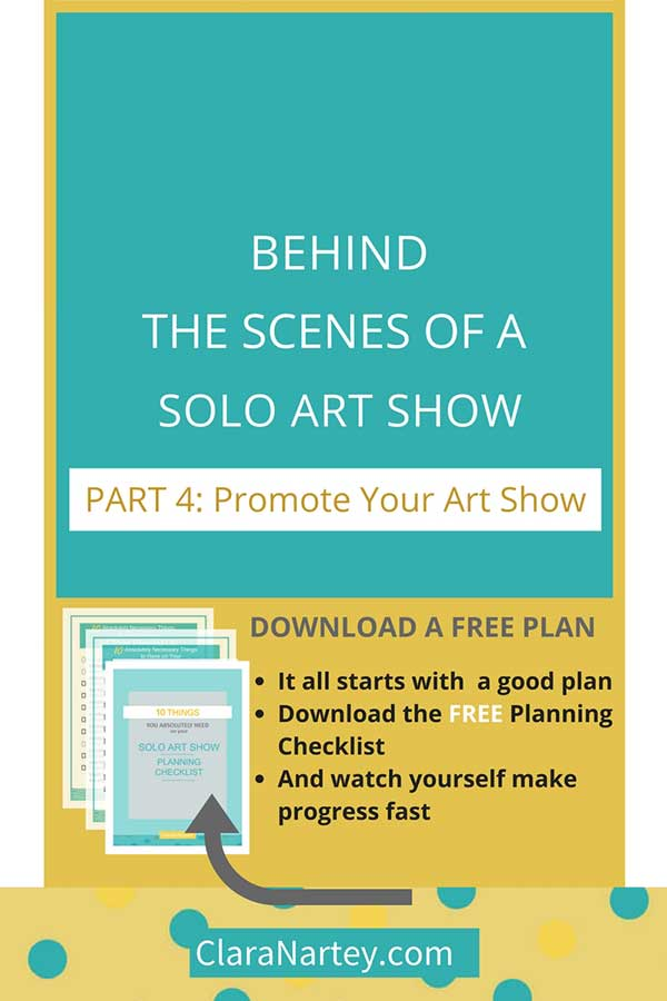 """Learn to promote your art show without being """"salesy"""""""