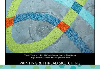 Painted | Thread Sketched | Quilted Background Fabric