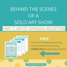 Behind The Scenes of A Solo Show: Artist Opening