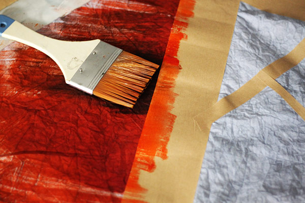 Making Connections | Dry Brush Painting with Dye | Orange Fabric Dye