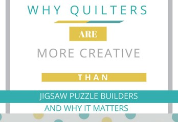 Quilters are more creative than puzzle builders