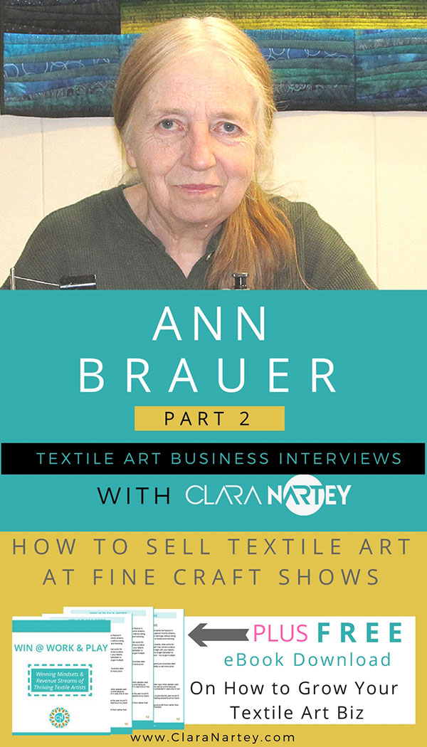 Selling Textile Art at a Craft Show