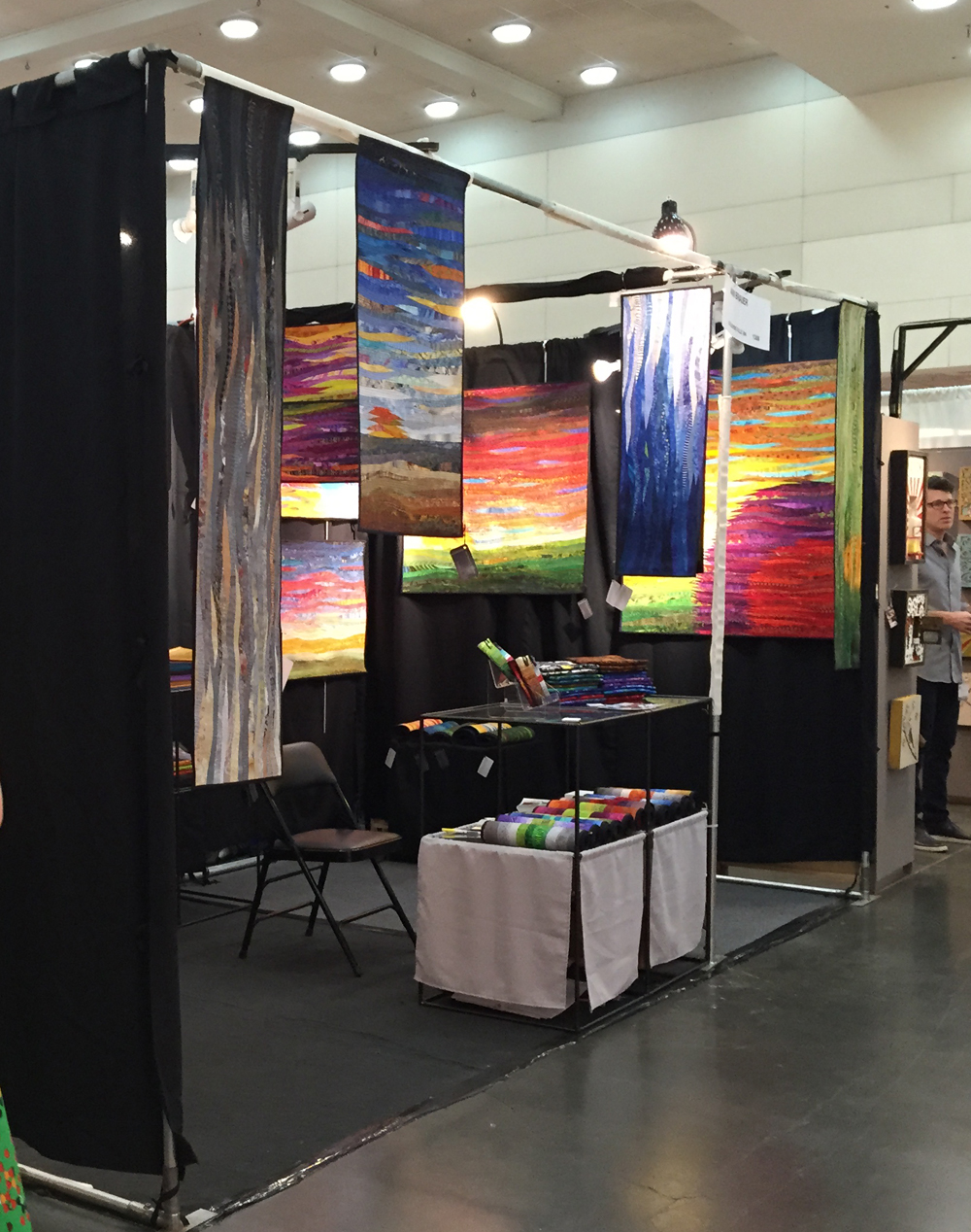 Ann Brauer's Booth at the Baltimore Craft Show 2017