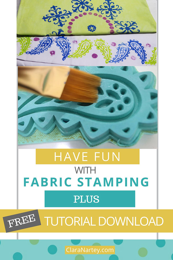 Free Tutorial Download |Fun with Fabric Stamping | Block Printing