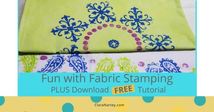 Fun with Fabric Stamping