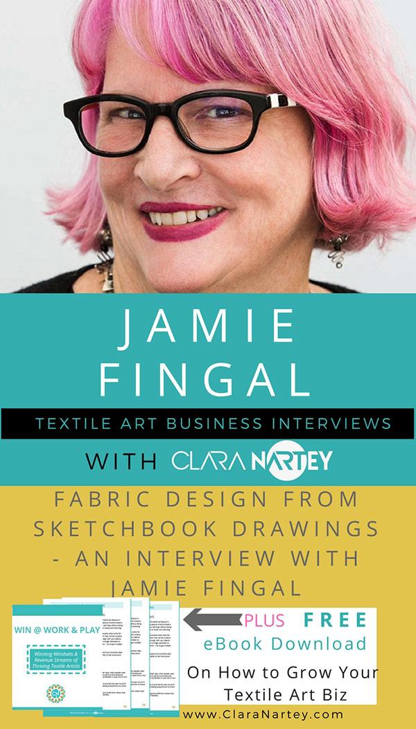 Jamie Fingal Fabric Designer of Hopscotch
