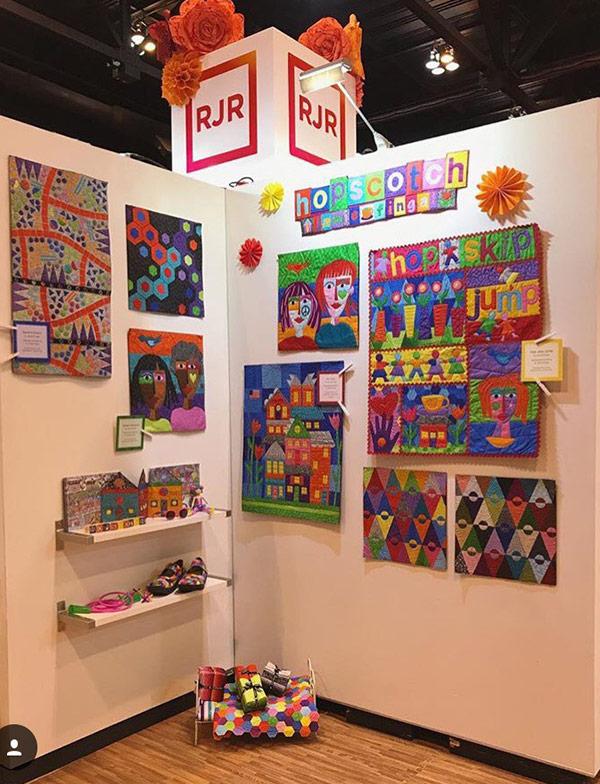 Jamie Fingal 's RJR-Fabrics Booth at Quilt Market