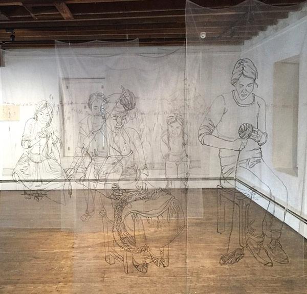 Thread art at Hunterdon Art Museum | Drawing with Thread | Thread Artists | Kelsey Wiskirchen