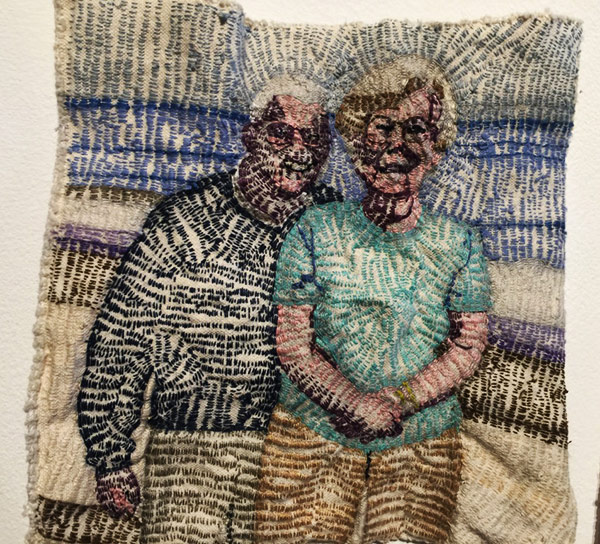 Thread art at Hunterdon Art Museum | Drawing with Thread | Thread Artists |Patricia Dalhman