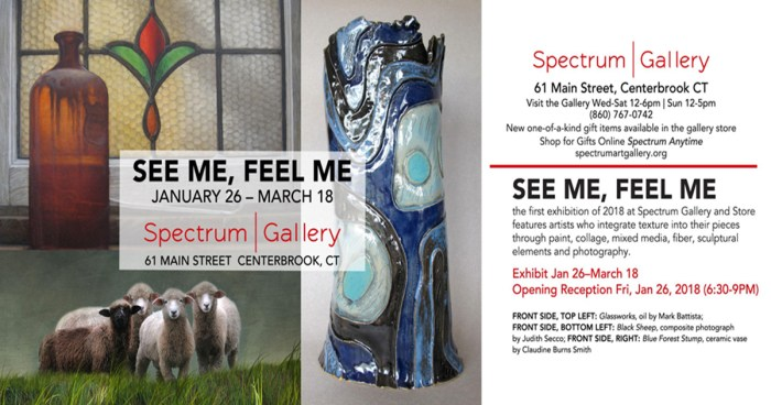 See Me, Feel Me at Spectrum Gallery