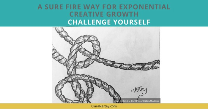 Challenge Yourself | 30 Day Art Challenge | 30 Day Creative Challenge | Drawing Challenge | Textile Art Challenge