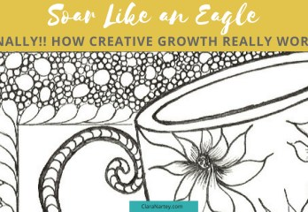 creative growth   Soar like an eagle  Hand-Drawn Coloring Page   Free Motion Quilting