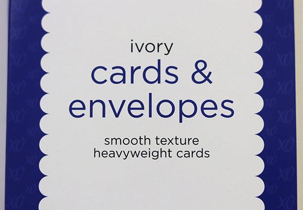 Fabric embellished greeting card | Fabric Stationery