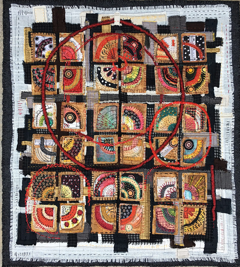 Textile Art Trends  Libby Williamson's Teabag Quilts
