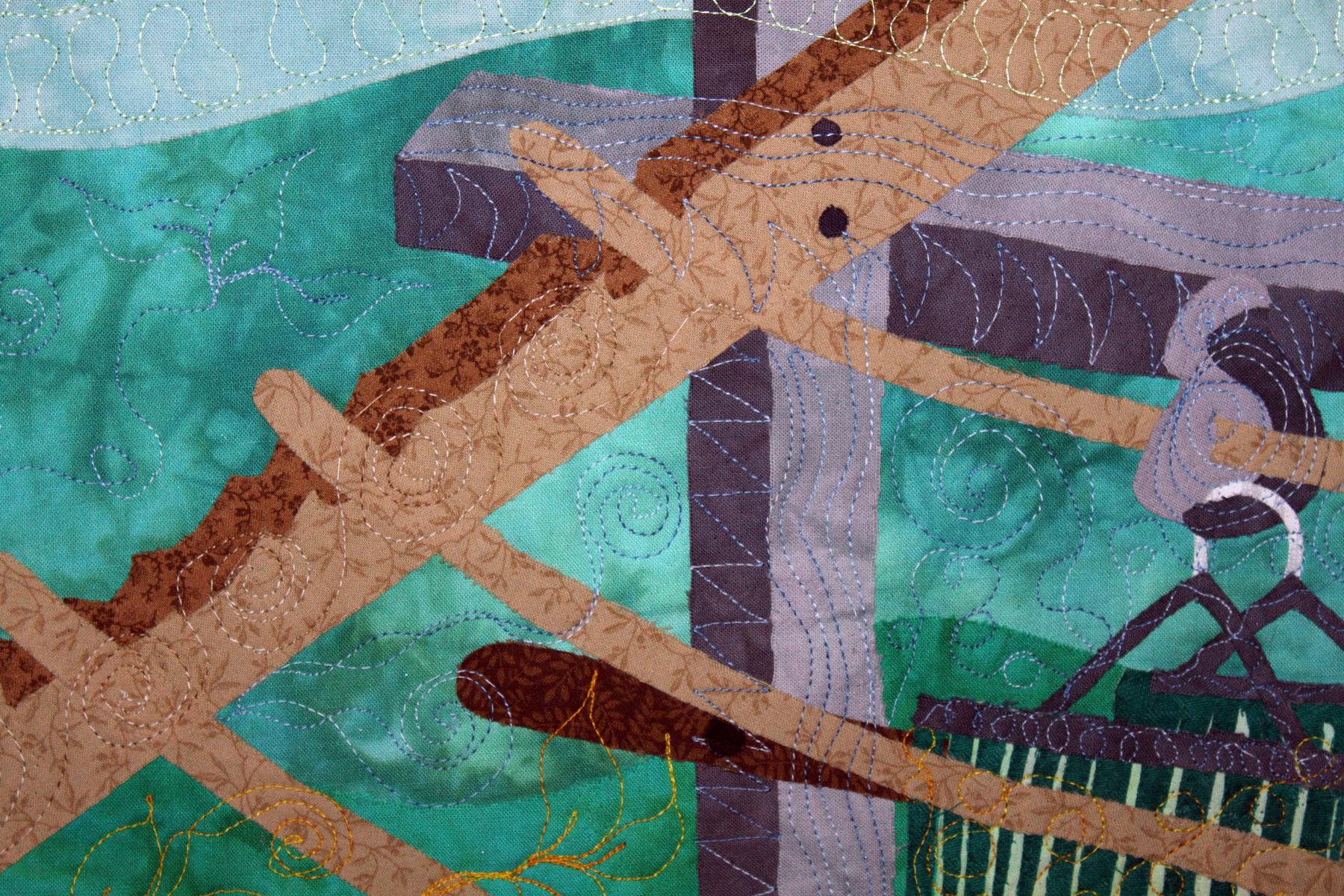 Fiber Art | Art Quilt | Craft | Pandemic
