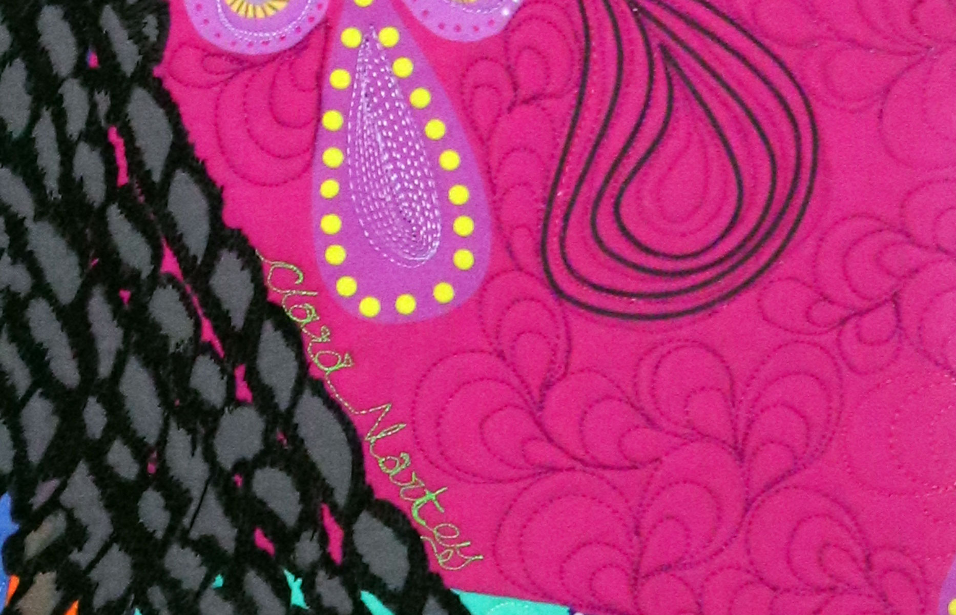 Clara Nartey | Fiber Art | Art Quilt | Textile Art | Portrait Quilt
