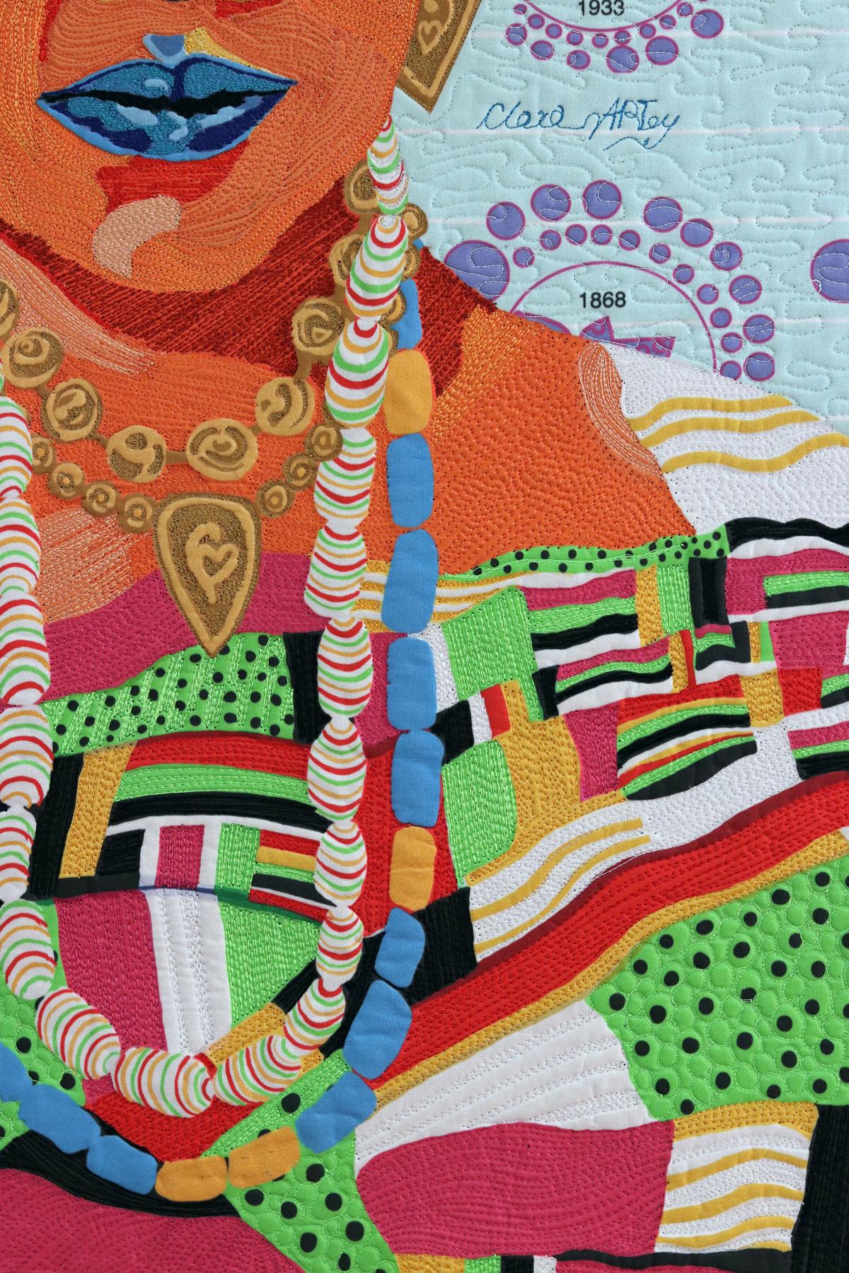| Fiber art| Textile Art | Thread painting| Black Patti | Matilda Jones