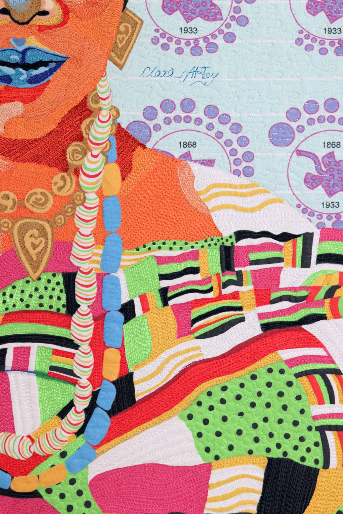Sissieretta Jones | Fiber art| Textile Art | Thread painting | Black Patti | Matilda Jones