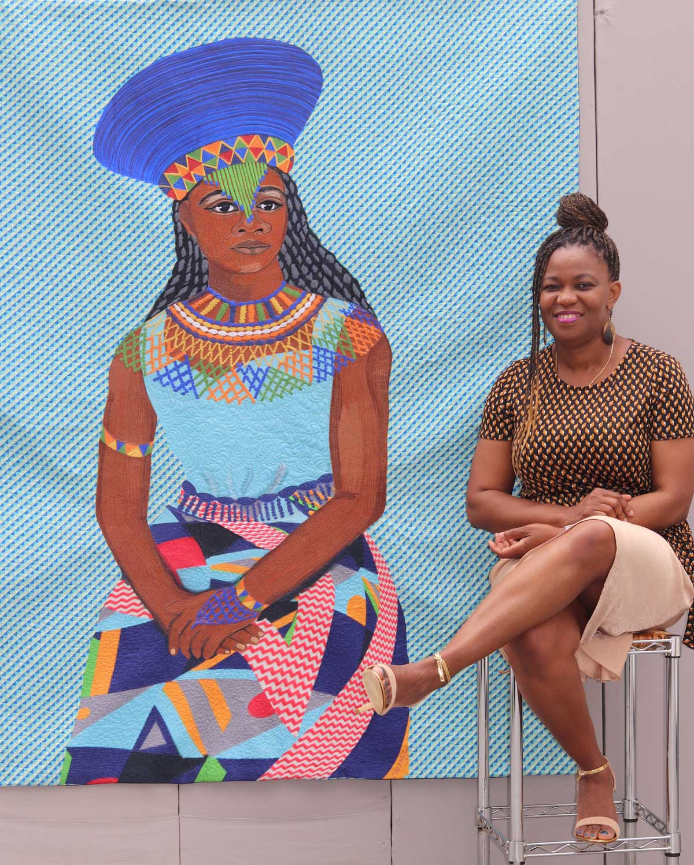 Amandla- fiber art | women