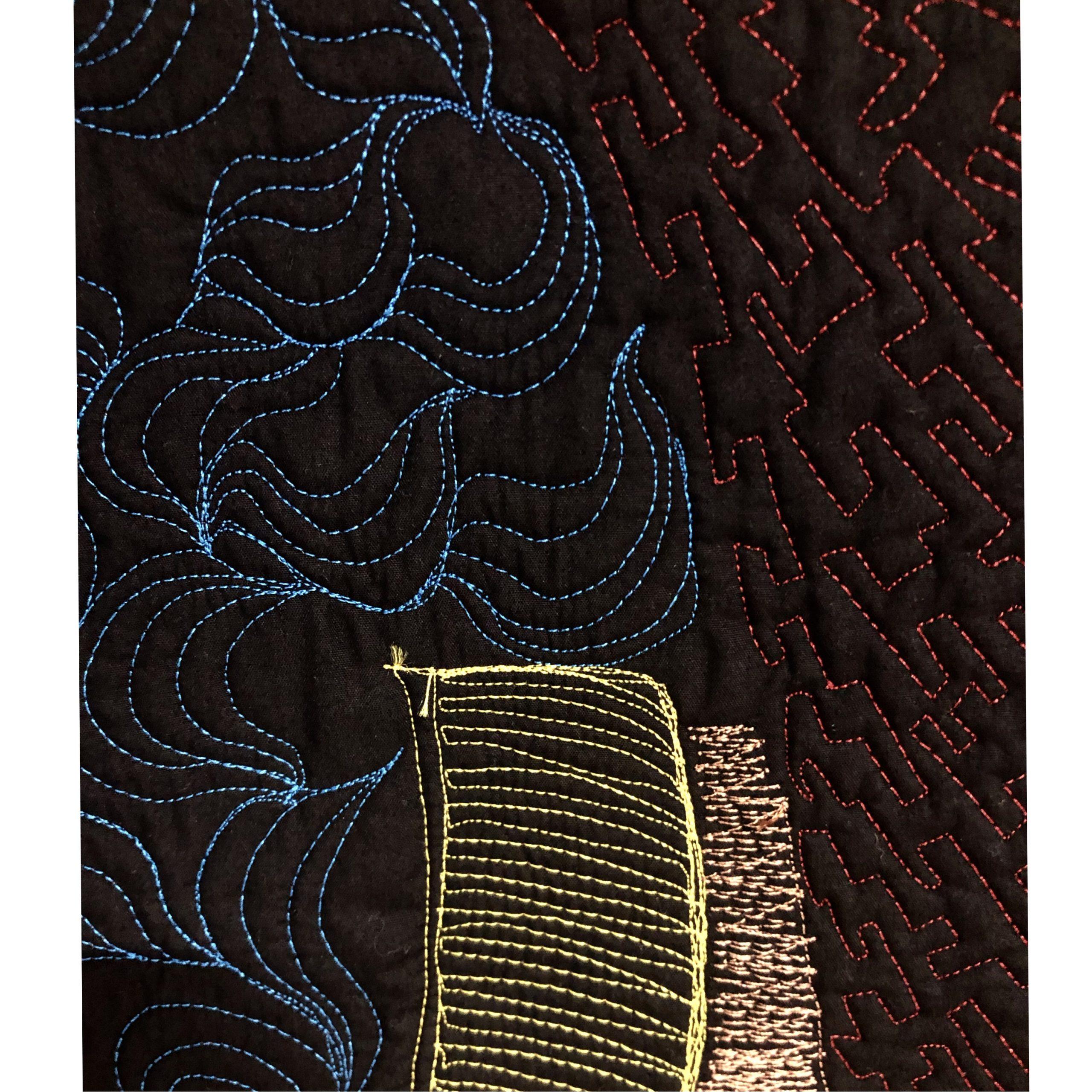 Thread Painting | Thread Sketching |Fiber Art