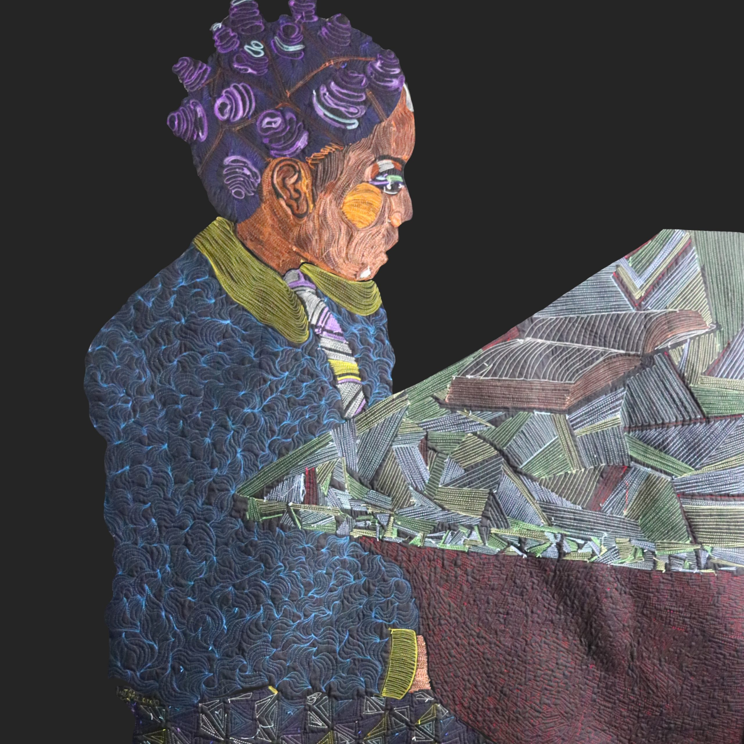 Bantu Knots | Thread Sketching | Textile Art