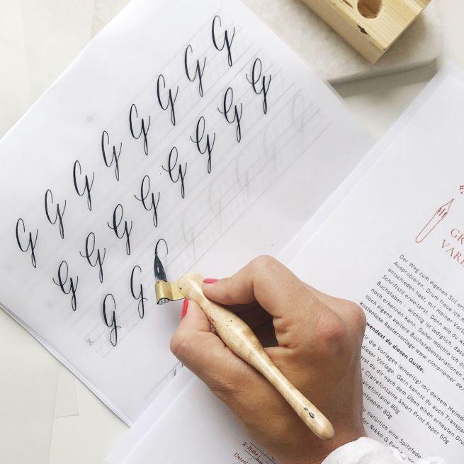 Übungsblätter Kalligrafie
