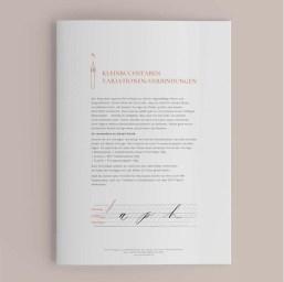 Kleinbuchstaben guide moderne kalligrafie
