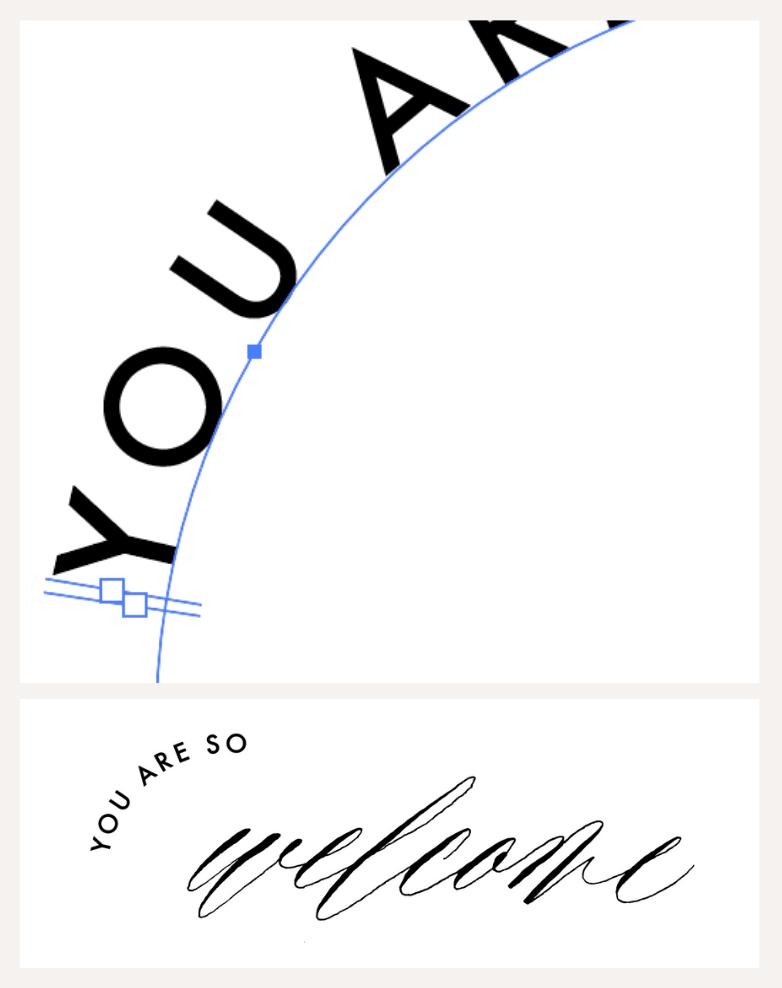 Clara Riemer Kalligrafie digitalisieren Pfadtext