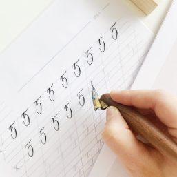 Zahlen Kalligrafie Vorlagen