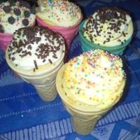 Creamy cone cupcakes