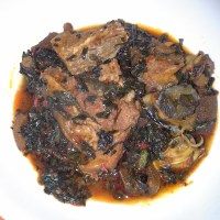 Efo riro (Vegetable soup)