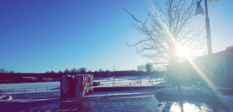 Snö vid GIH örebro