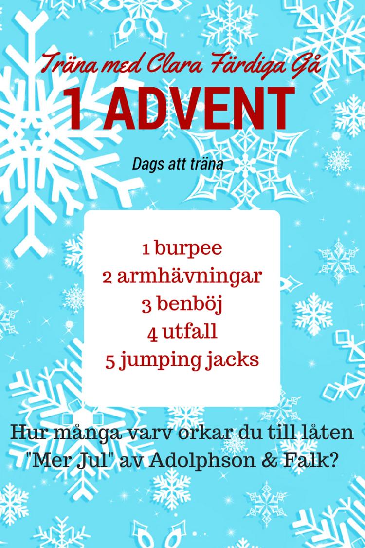 Träna första advent
